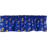 Kansas Jayhawks Valance Window Treatment