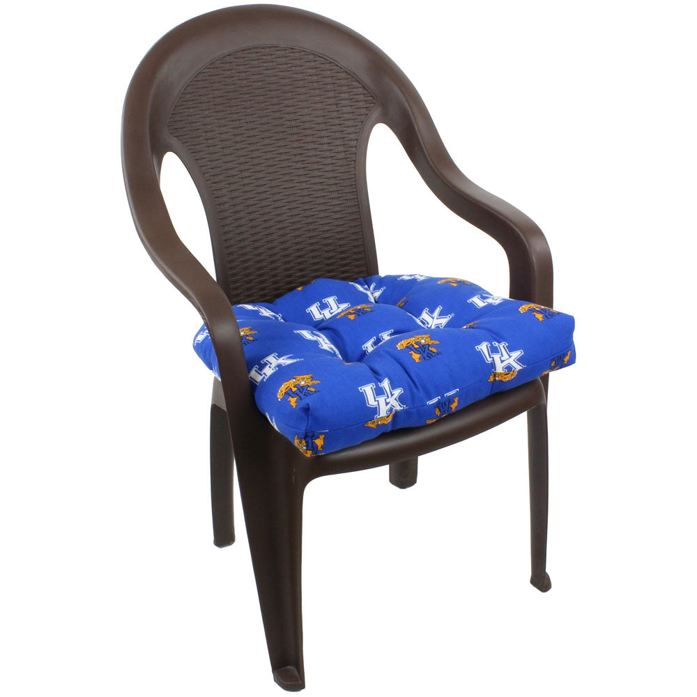 Kentucky Wildcats Outdoor Seat Cushion on Chair