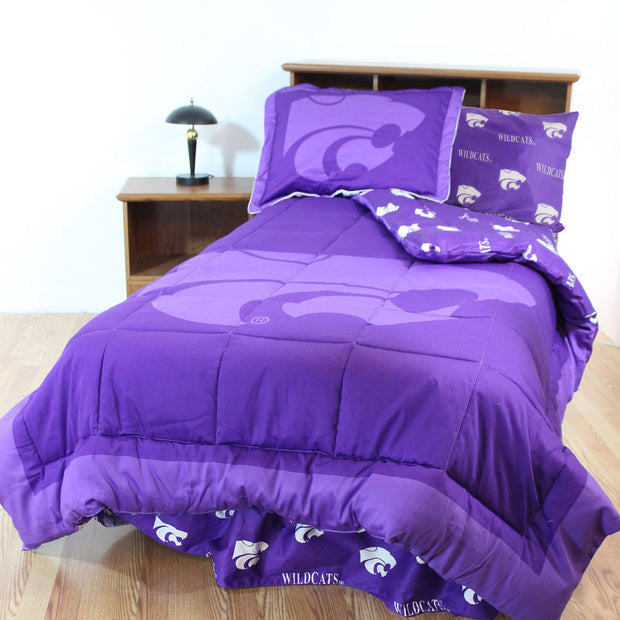 Kansas State Wildcats Bed in a Bag w/ Colored Logo Sheets