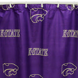 Kansas State Wildcats Scatter-Print Shower Curtain