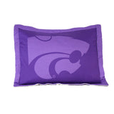Kansas State Wildcats Team Logo Quilted Pillow Sham