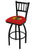 Chicago Blackhawks Red Jailhouse Swivel Bar Stool - Team Sports Gift