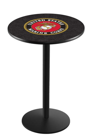 United States Marines Cafe Table w/ Round Base