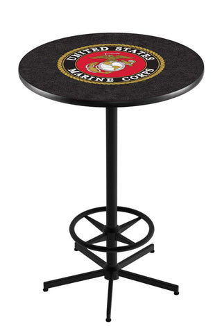 United States Marines Bar Table w/ Foot Rest