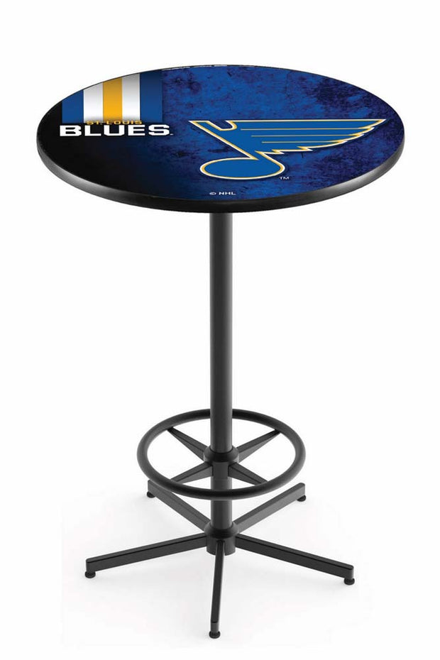 St. Louis Blues Pub Table w/ Foot Ring