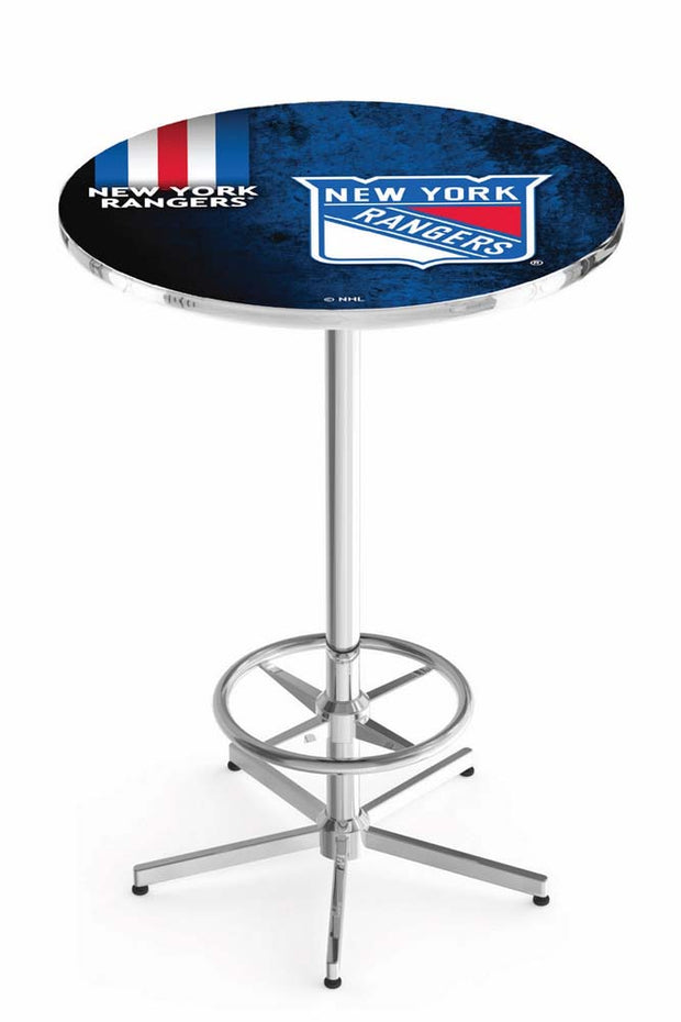 New York Rangers Pub Table w/ Foot Ring