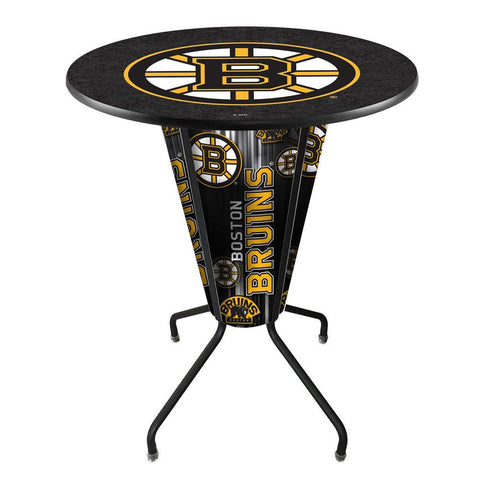 Atlanta Thrashers Lighted Logo Pub Table in Black