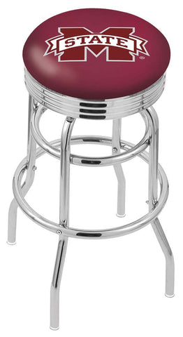 Mississippi State Bulldogs Retro Swivel Bar Stool