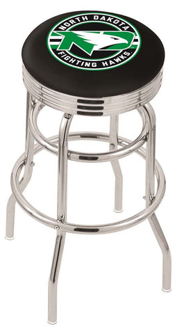 North Dakota Fighting Hawks Retro Swivel Bar Stool