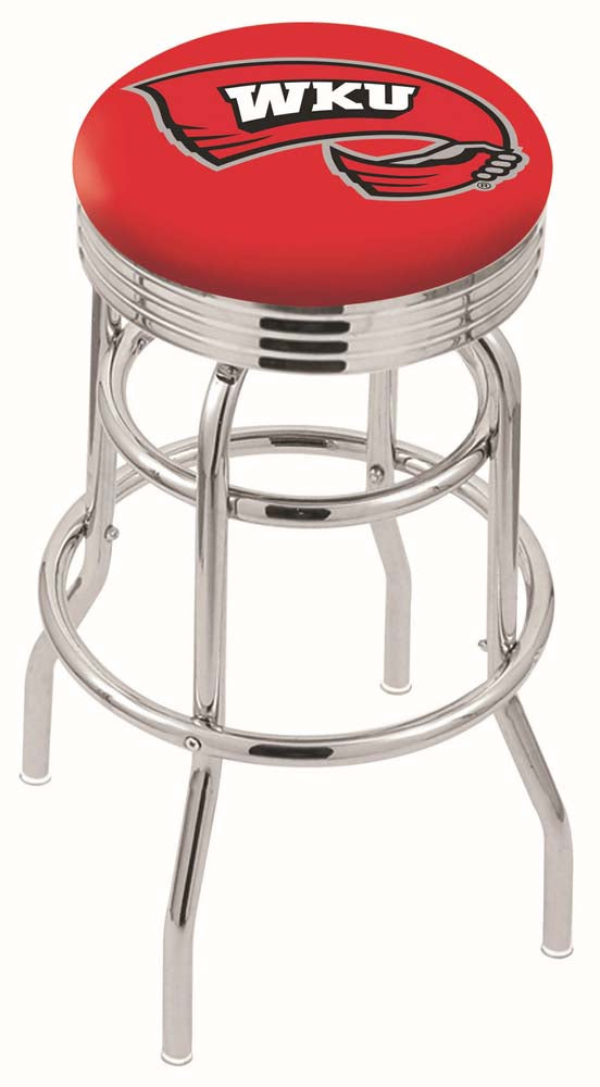 Western Kentucky Hilltoppers Retro Swivel Bar Stool