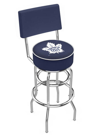 Chrome Toronto Maple Leafs Double-Rung Swivel Back Bar Stool