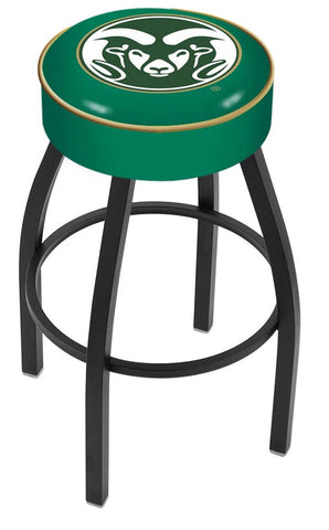 Colorado State Rams Black Wrinkle Swivel Bar Stool