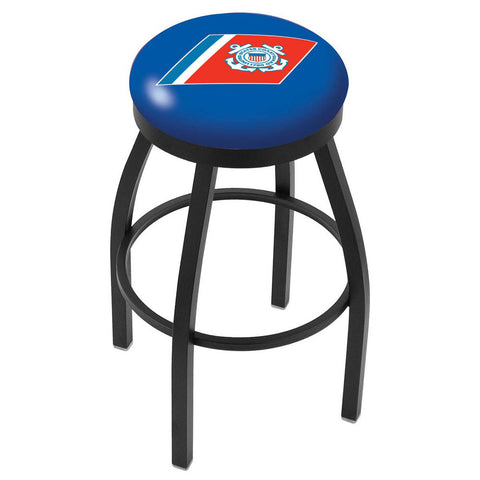 Coast Guard Bears Swivel Bar Stool w/ Accent Ring