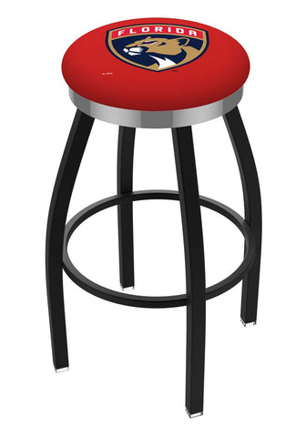 Florida Panthers Swivel Stool Black w/ Chrome Accent