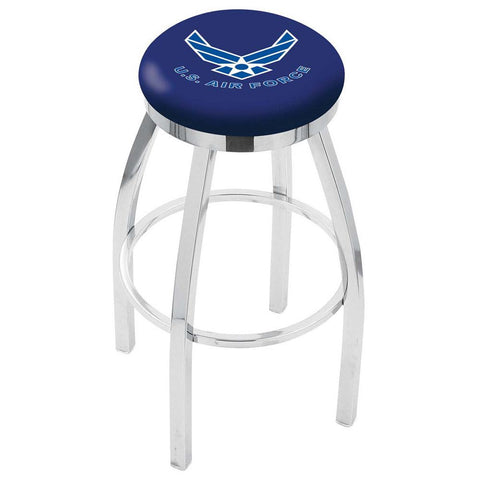Air Force Falcons Chrome Single Rung Swivel Barstool