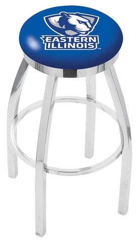 Eastern Illinois Panthers Chrome Single Rung Swivel Barstool