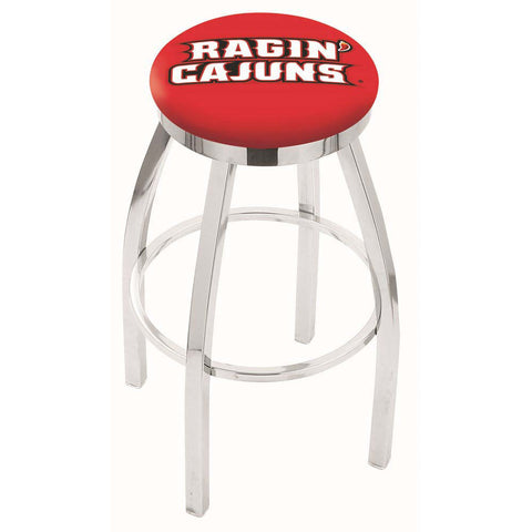 Louisiana Ragin' Cajuns Chrome Single Rung Swivel Barstool