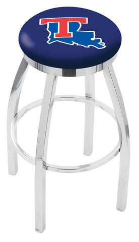 Louisiana Tech Bulldogs Chrome Single Rung Swivel Barstool