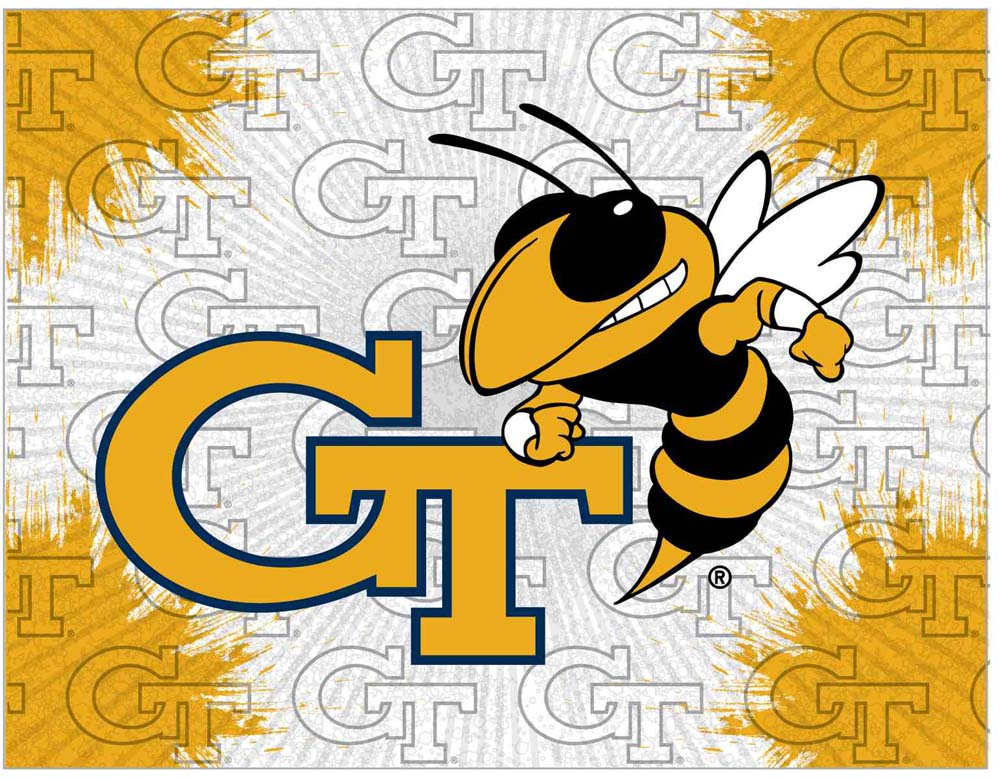 Georgia Tech Yellow Jackets Stretched Canvas Wall Art