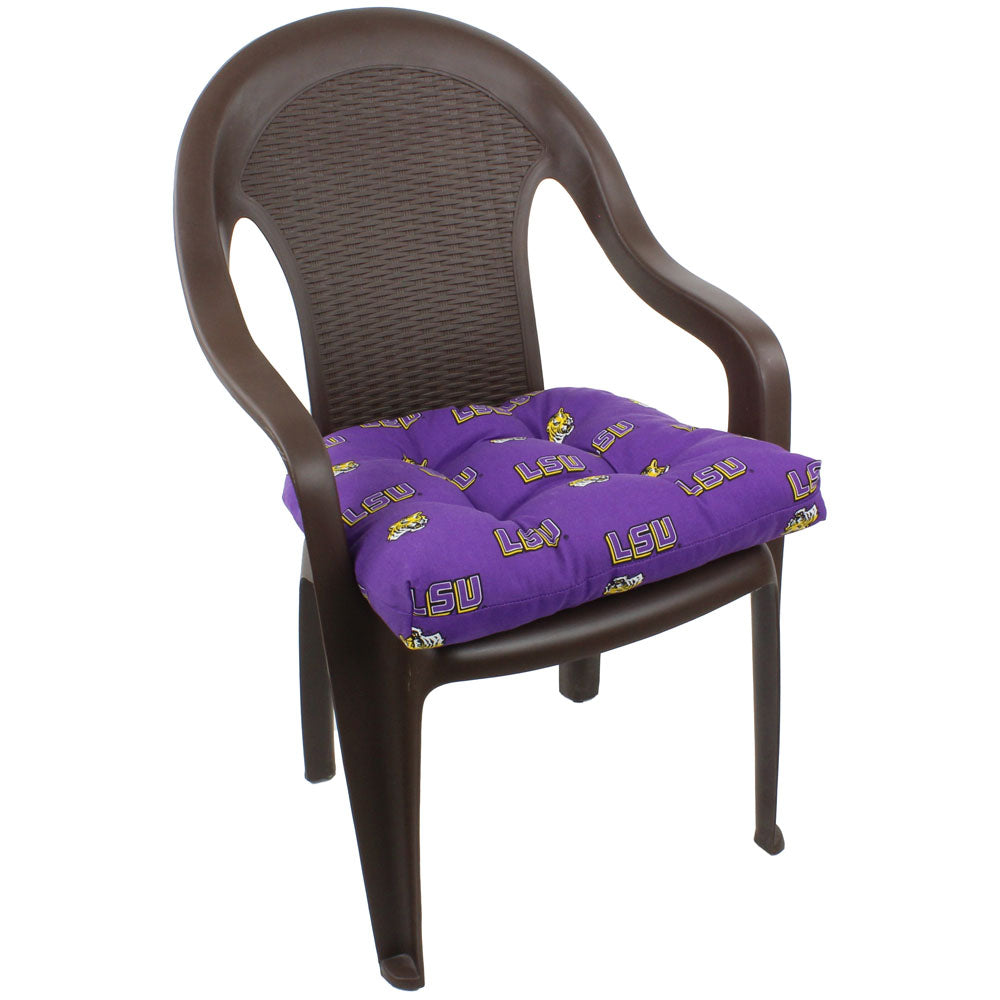 LSU Tigers Outdoor Seat Cushion on Chair