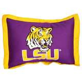 LSU Tigers Team Logo Quilted Pillow Sham