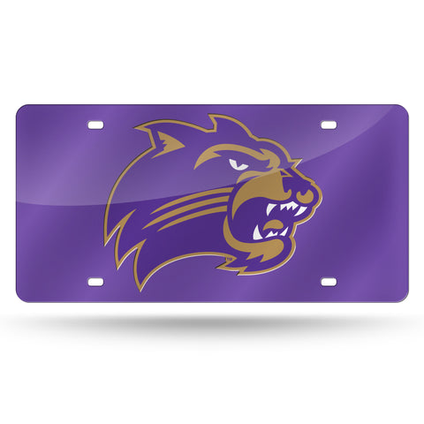 Western Carolina Catamounts Hand Assembled Laser Cut Tag Purple