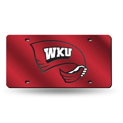 Western Kentucky Hilltoppers Hand Assembled Laser Cut Tag Red