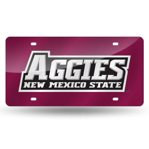 New Mexico State Aggies Hand Assembled Laser Cut Tag Maroon