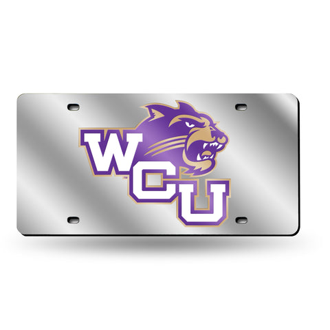 Western Carolina Catamounts Mirrored Laser Cut Tag