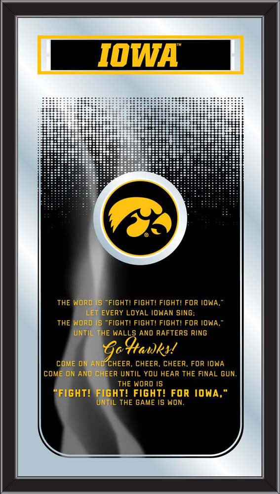 Iowa Hawkeyes Fight Song Lyrics Wall Mirror