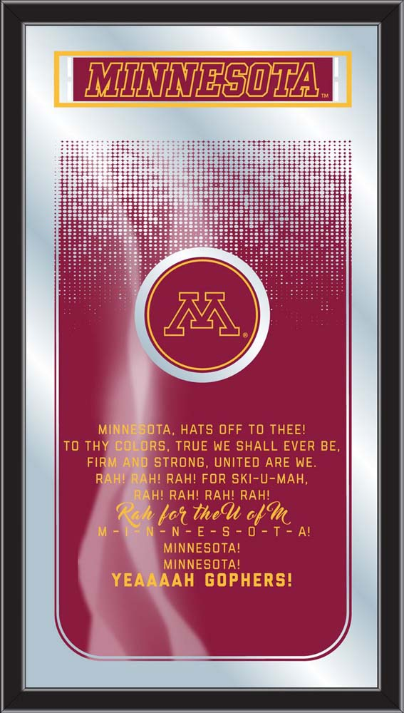 Minnesota Golden Gophers College Fight Song Lyrics Wall Mirror - Team Sports Gift