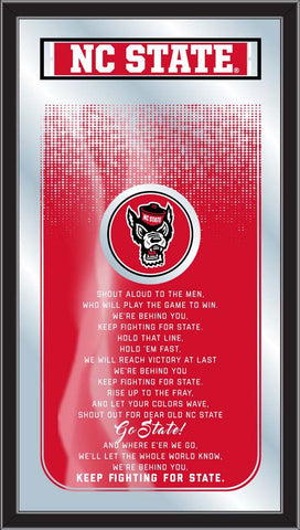 NC State Wolfpack Fight Song Lyrics Wall Mirror