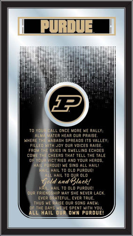Purdue Boilermakers Fight Song Lyrics Wall Mirror