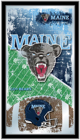 Maine Black Bears Football Field Wall Mirror