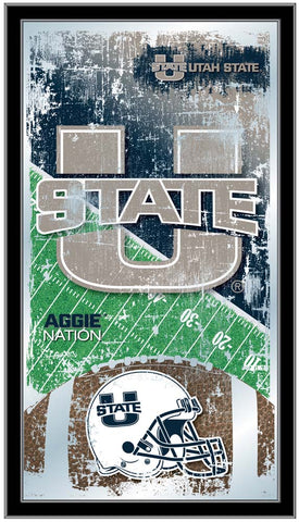 Utah State Aggies Football Field Wall Mirror