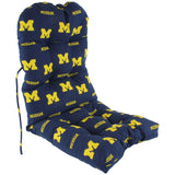 Michigan Wolverines Seat Cushion for Adirondack Chair