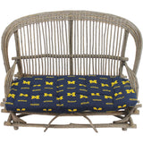 Michigan Wolverines Settee Loveseat Cushion
