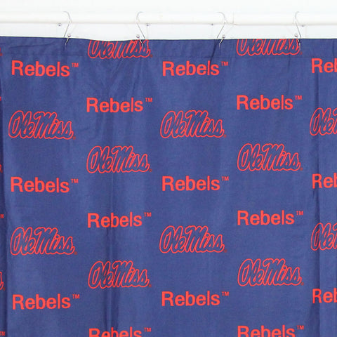 Ole Miss Rebels Scatter-Print Shower Curtain