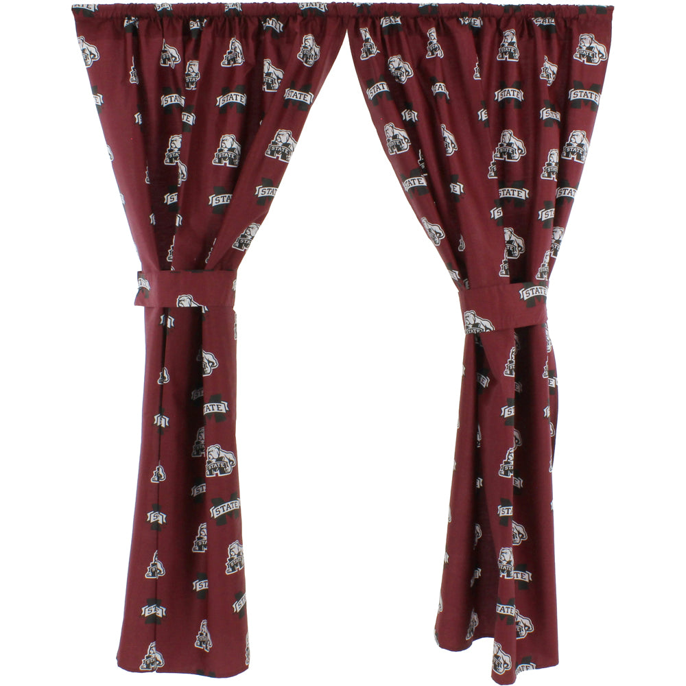 Mississippi State Bulldogs Window Curtain Panels