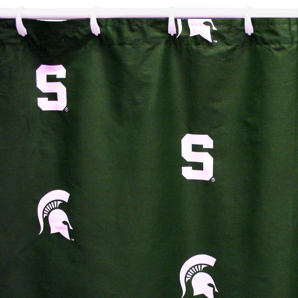 Michigan State Spartans Scatter-Print Shower Curtain