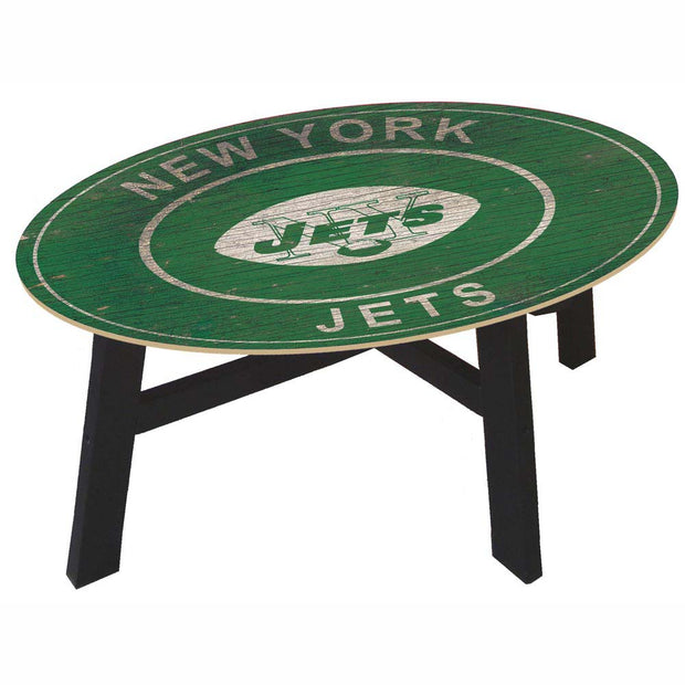 New York Jets Coffee Table with Vintage Logo - Team Sports Gift