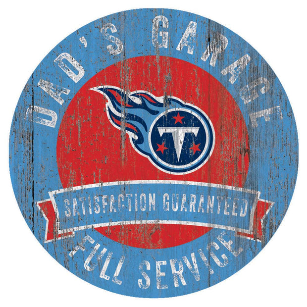 Tennessee Titans Dad's Full Service Garage Sign