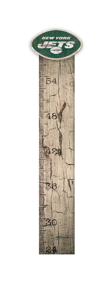 Rustic Wood New York Jets Growth Chart