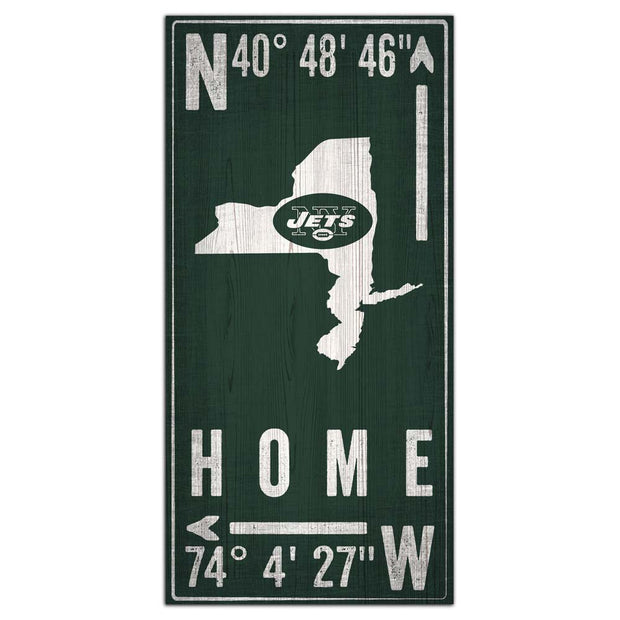 New York Jets GPS Wall Art