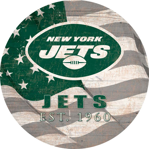 New York Jets Flag Graphic Art