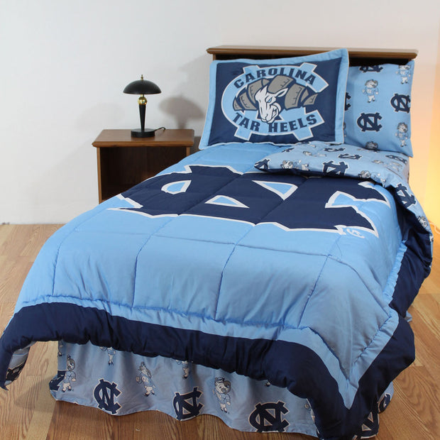 North Carolina Tar Heels Bed in a Bag w/ Colored Logo Sheets