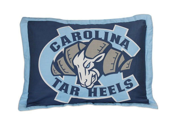 North Carolina Tar Heels Team Logo Quilted Pillow Sham