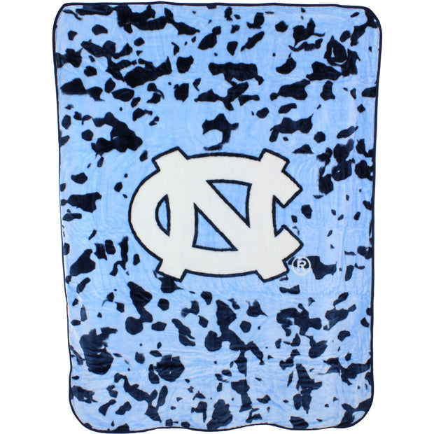 North Carolina Tar Heels Hi Pile Raschel Knit Blanket