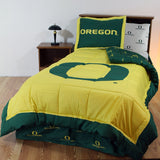 Oregon Ducks Bed in a Bag w/ White Team Logo Sheets