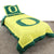 Oregon Ducks Team Spirit Reversible Bedding Set - Team Sports Gift
